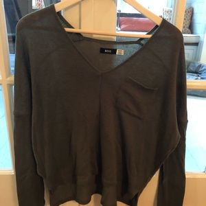 Urban outfitters olive fleece sweater